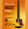 live performance guitar acoustic poster vector image