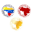 made in Venezuela stamp vector image vector image