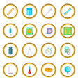 measure tools icons circle vector image vector image