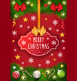 merry christmas caption greeting with holiday vector image vector image