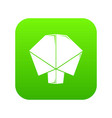 origami tree icon green vector image