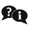 Question and exclamation speech bubbles icon vector image vector image