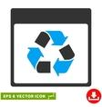Recycle Calendar Page Eps Icon vector image vector image