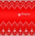 Red vintage winter ethnic ornamental background vector image vector image