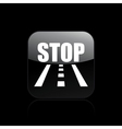 road stop icon vector image vector image