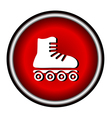 Roller skates sign icon on white background vector image vector image