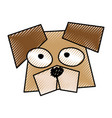 scribble funny dog face vector image vector image