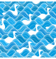 Seamless duck waves vector image vector image