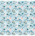 seamless pattern of colorful flowers vector image