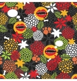 Seamless pattern with crazy mouth vector image vector image