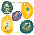 set of sports vector image vector image