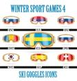 Ski goggles icons vector image