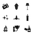 sources of light icon set simple style vector image vector image