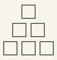 square chart thin line icon diagram vector image