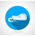 Squid flat round icon vector image vector image