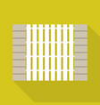 stone wood fence icon flat style vector image vector image