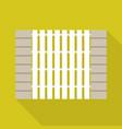 stone wood fence icon flat style vector image