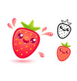 strawberry with juicy drops vector image vector image