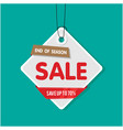 tag sale end of season sale save up to 70 vector image vector image