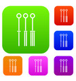 tattoo needles set color collection vector image vector image