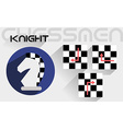The moves of the chess knight vector image vector image