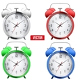 Traditional alarm clock vector image