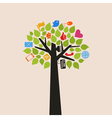 Tree the Internet vector image vector image