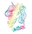 unicorn magical animal artwork vector image