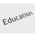 v education text design vector image