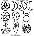 wiccan symbols set vector image vector image