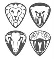 wild animal signs vector image