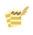 writing music song tablature graphic vector image vector image