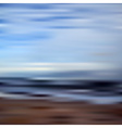 abstract blurred unfocused bokeh sky and beach vector image