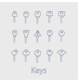 Keys from the house vector image