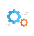 cogwheel icon technical servie support technology vector image