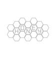 Honeycomb set Beehive element Honey text icon vector image