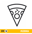 line icon pizza vector image