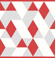 abstract red triangles pattern design seamless vector image