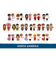 americans in national clothes vector image vector image