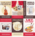 arts posters set vector image vector image