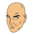 bald man face
