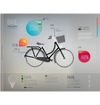 bicycle and info graphic elements vector image