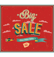 Big sale typographic design vector image vector image