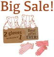 Big Sale withbadgers leather gloves vector image vector image