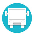 bus vehicle icon vector image vector image