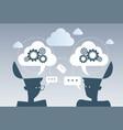 business brainstorming process cog wheel work vector image vector image