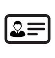 business icon male user person profile avatar vector image vector image