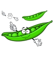 Cartoon green pea vector image vector image