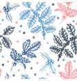 christmas holly background winter seamless vector image vector image