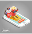 cinema tickets online vector image vector image